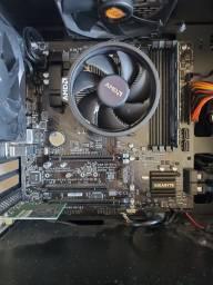 Título do anúncio: Kit upgrade: placa-mãe, processador e memória