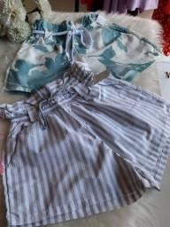 Kit 2 shorts femininos tamanho M