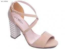 Sandália feminina rosé Alta Villa Shoes salto de 8.5 cm
