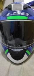Capacete LS2 Stream FF320 + viseira azul
