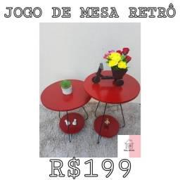 JOGO DE MESA RETRÔ