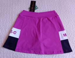 Título do anúncio: Short saia de academia rosa e preto