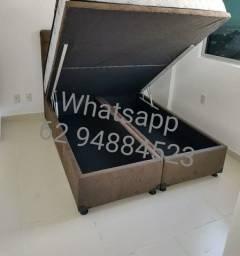 Título do anúncio: Cama box baú (158×198×43) queen size direto da fábrica.