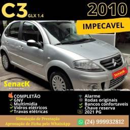 C3 1.4 GLX 2010 GNV completo  R$20.900,00