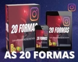 20 formas de ganhar dinheiro pelo Instagram