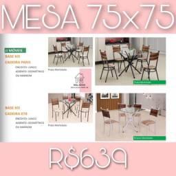 Mesa de jantar 75x75 (entrega rápida e gratuita)