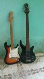 Contra Baixo e guitarra