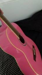 Vendo violão rosa