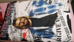 Pôster antigo Nirvana em tecido