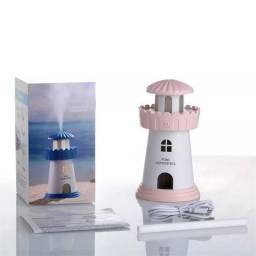 Mini Umidificador Farol Lighthouse Portatil Aromatizante