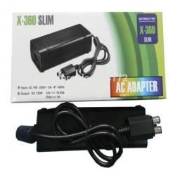 Fonte Xbox 360 Slim 2 Pino Bivolt+cabo De Forca Lacrado ( Entrega grátis )