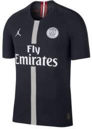 Camisa PSGxJordan tamanho G Preta