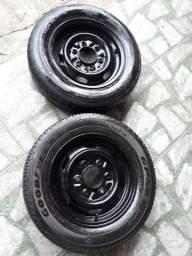 Rodas 6 furos com pneus 14