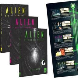 Trilogia Alien + Poster - Livros Novos e Lacrados!