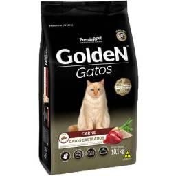 Ração Golden Gatos Castrados Sabor Carne 9 KG