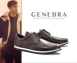 Sapatos casual em couro