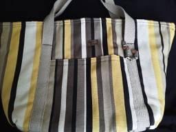 bolsas modernas de tricoline forradas e com bolsinha grátis 45,00