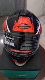 Capacete Mormaii M1 Gmetrix preto vermelho