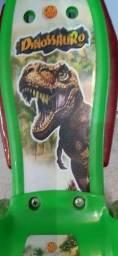 Patinete infantil  com cesta dinossauros- dm - radical.
