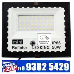 Refletor Holofote Externo 50w Led Luz Branco 6000k Ip67 120º