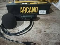 Microfone condensador USB: Arcano BK-01 4 meses de uso: 300 R$