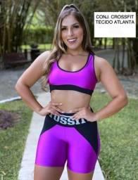 kit com 04 Conjuntos  Fitness Roupas de Academia.