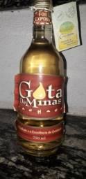 Cachaça Gota de Minas 750ml ano 1999