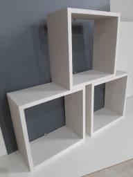 Kit de 3 Nichos Cores Variadas de 30 x 30 x 15