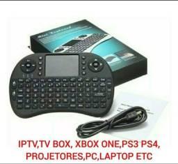 Mini teclado touchpad com bateria Recarregável