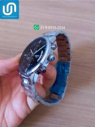 Relógio Masculino Original Nibosi Prata