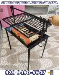 Título do anúncio:  veja as fotos! churrasqueira resistente  chapa grossa, brinde 2 Carvão entrega gratis