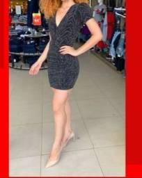 Título do anúncio: Vestido de lurex