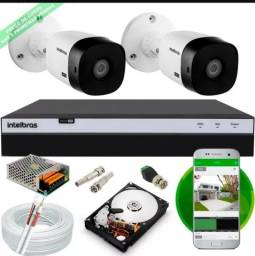 Título do anúncio: Kit com 2 cameras ,ja instalado 12x sem juros