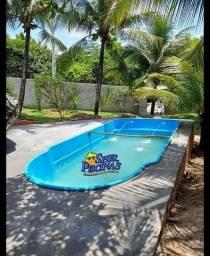 Mês  da piscina de fibra promoção