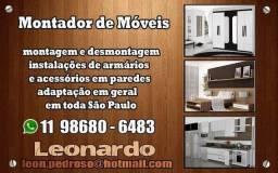 Montagem de móveis convencional e planejado
