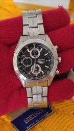 Relógio Seiko Masculino 100m Cronógrafo 7t92bv/1 Aço Inox