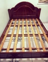 Título do anúncio: Cama de madeira e painel com suporte