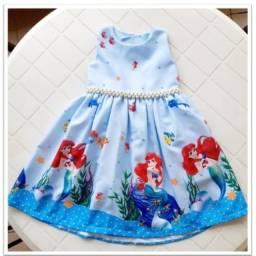Lindo vestido da Pequena Sereia!