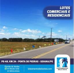 Título do anúncio: Terrenos Financiados na Praia de Ponta de Pedras - Goiana/PE