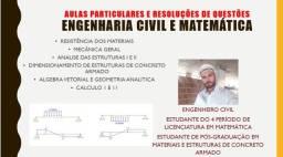 aulas particulares matematica e engenharia civil
