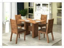 Título do anúncio: Sala Mesa de Jantar  120x80cm - 4 cadeiras - Rustico - Pronta Entrega