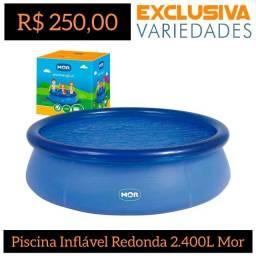 Piscina Inflável Redonda 2.400 Litros Mor + Entrega Grátis