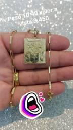 Cordões masculinas em ouro aceito cartão tem acréscimo