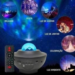 Projetor luminária galáxia com Bluetooth