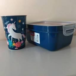 Título do anúncio: Kit  Infantil Unicórnio: copo, caneca e marmita