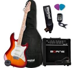 Guitarra Strinberg Sts100 Csb Kit C/ Ampificador Borne G30