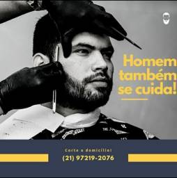 Corte de cabelo e serviços de barbearia à domicílio.