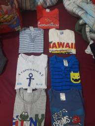 Lote de roupas meninos