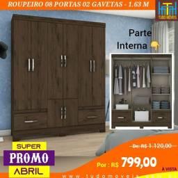 SUPER PROMO ABRIL / Roupeiro 08 Portas 02 Gavetas