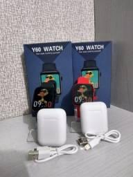 Smartwatch Y60 +1 brinde
